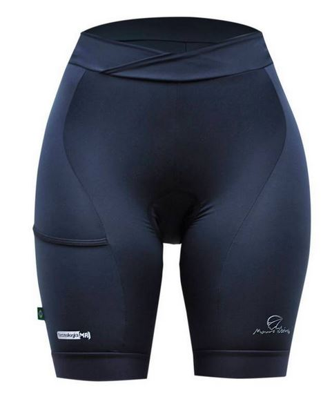 Bermuda Ciclismo Mauro Ribeiro Feminina Pocket Preto