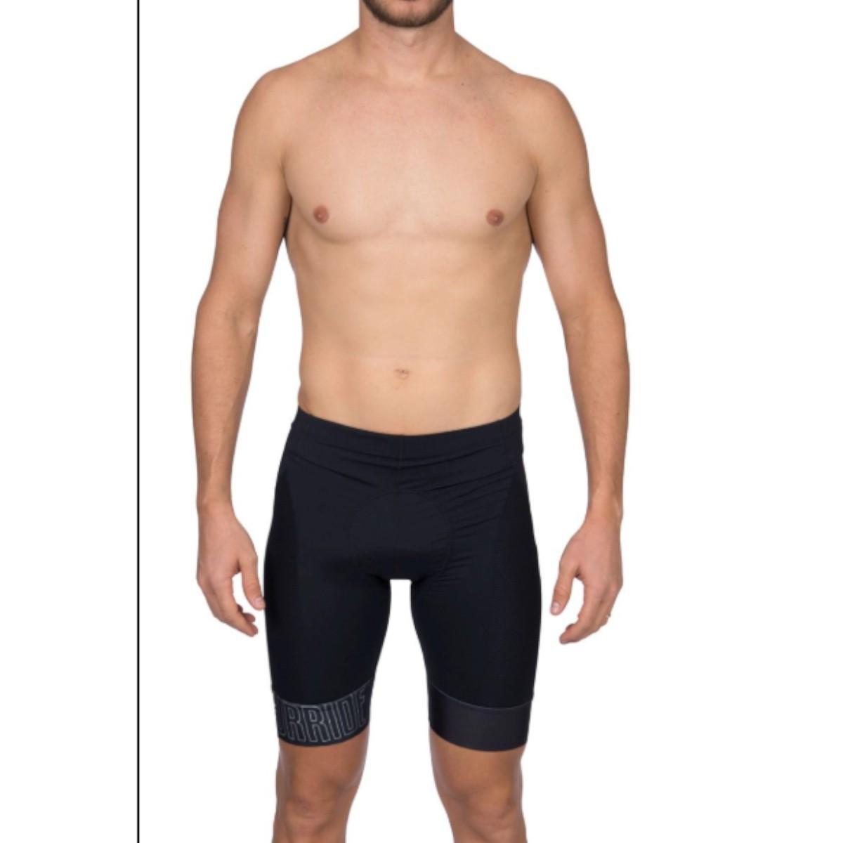 Bermuda de Ciclismo Woom Masculino Supreme Preto e Branco 2019
