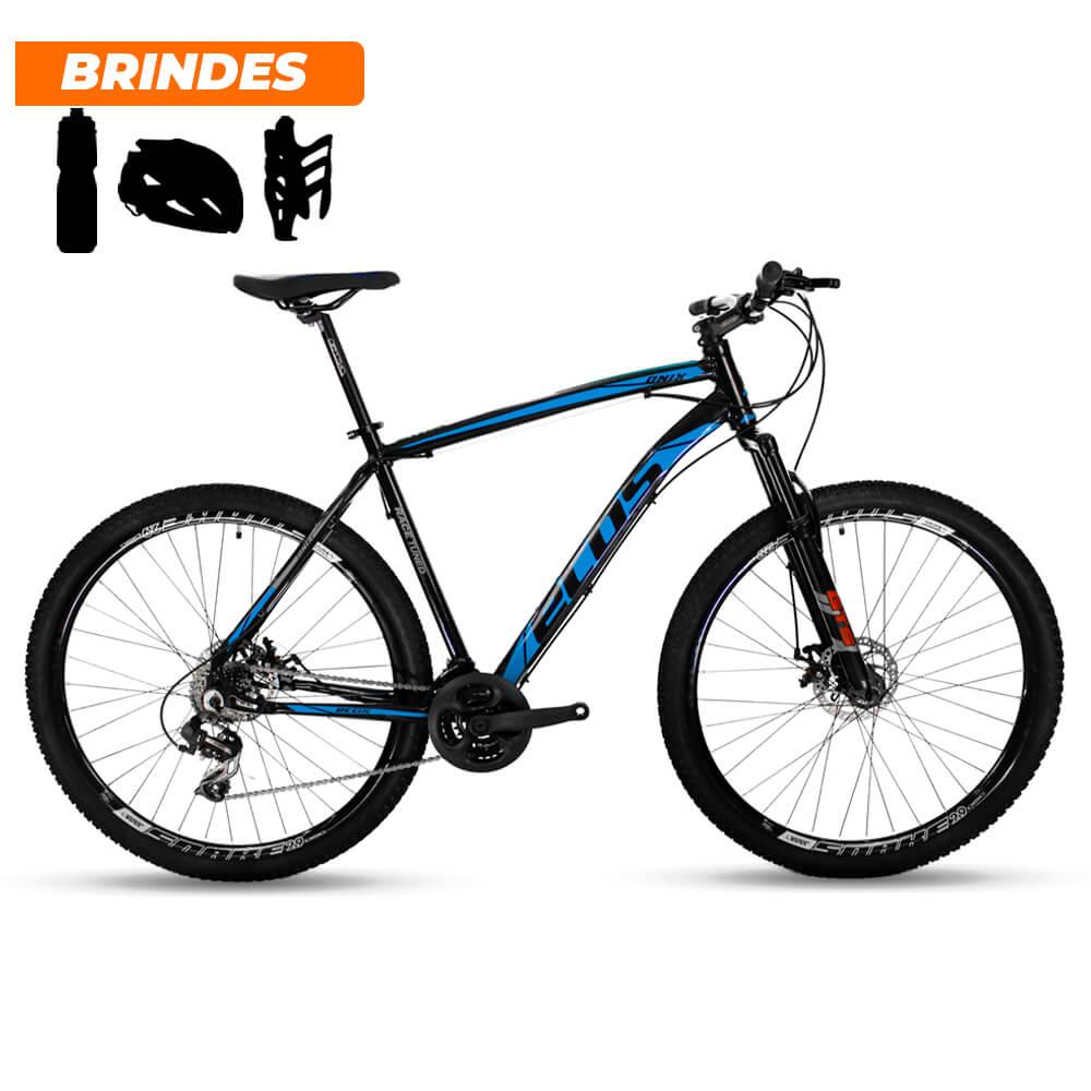 Bicicleta Aro 29 Ecos Onix 21v Câmbio Shimano Preto e Azul