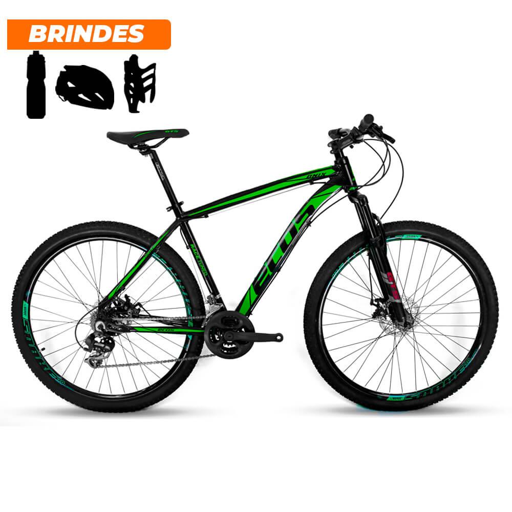 Bicicleta Aro 29 Ecos Onix 21v Câmbio Shimano Preto e Verde