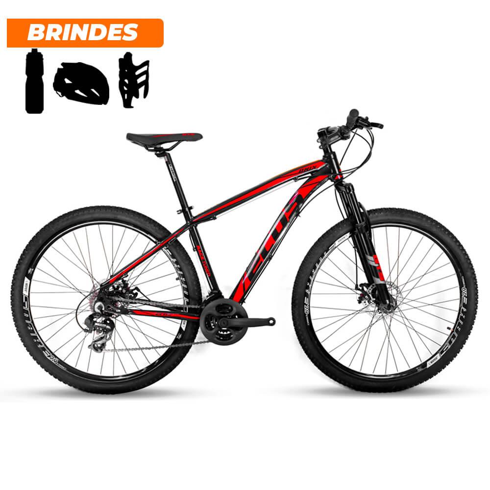 Bicicleta Aro 29 Ecos Onix 21v Freio A Disco Mecâ Pto e Verm