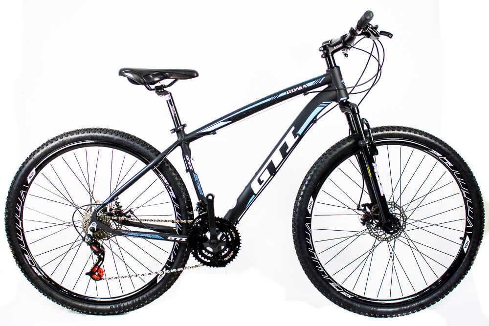 Bicicleta Aro 29 Gti 24v Freio Disco Mecânico Az/Pr 2020