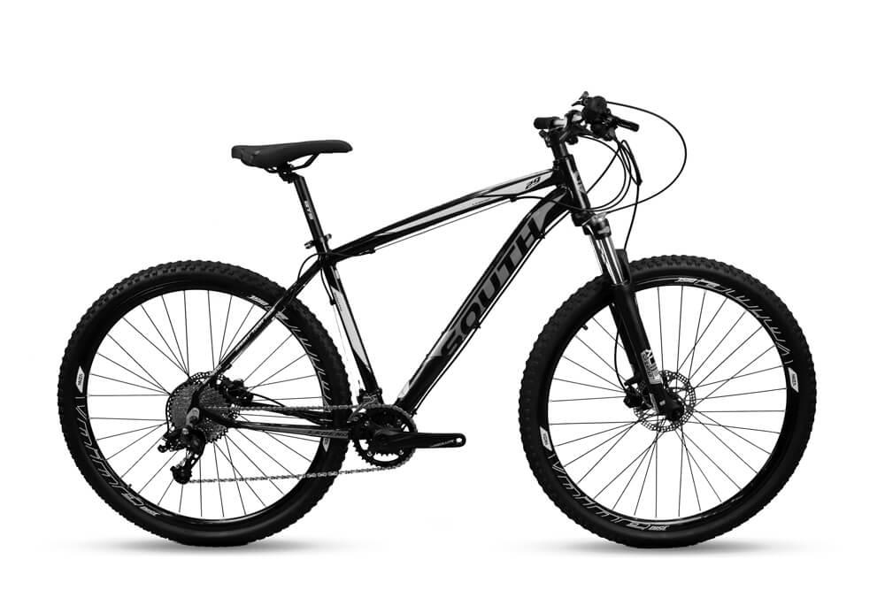 Bicicleta Aro 29 Mtb Alumínio South Legend 20v Pto e Branco