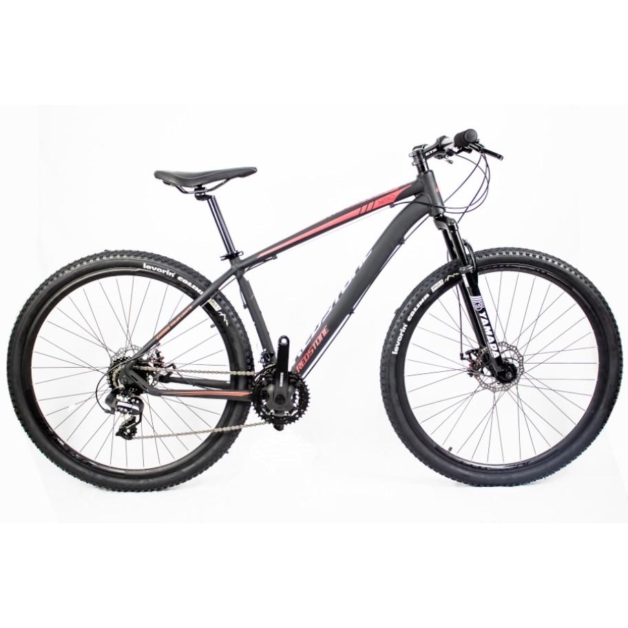 Bicicleta Aro 29 Mtb Redstone Nitro 24V Preto Rosa 17