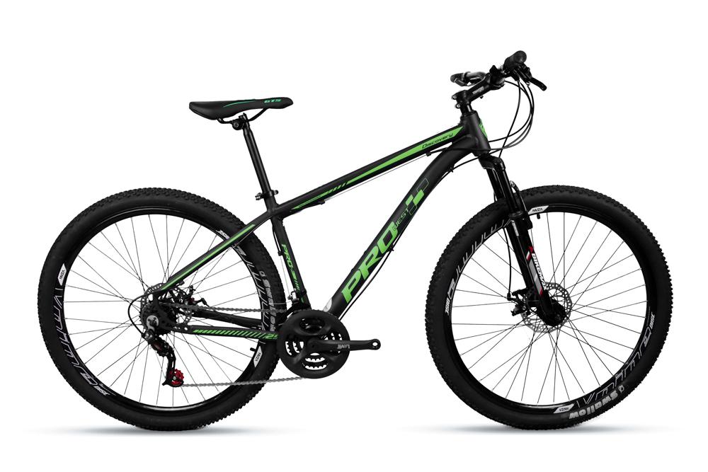 Bicicleta Aro 29 Prowest Freio Mecânico 21v Preto e Verde