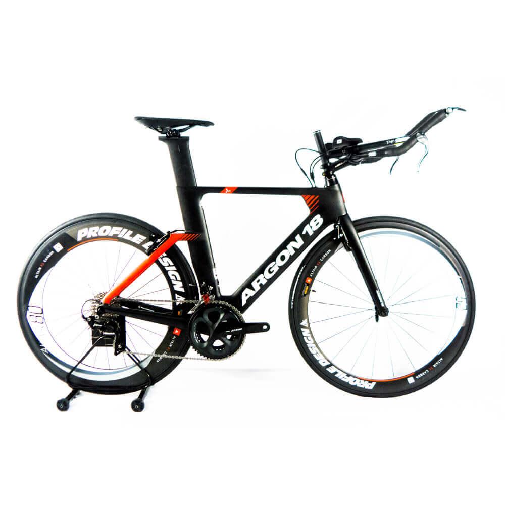 Bicicleta de Triathlon Argon 18 E-117 2020 M + Roda Carbono