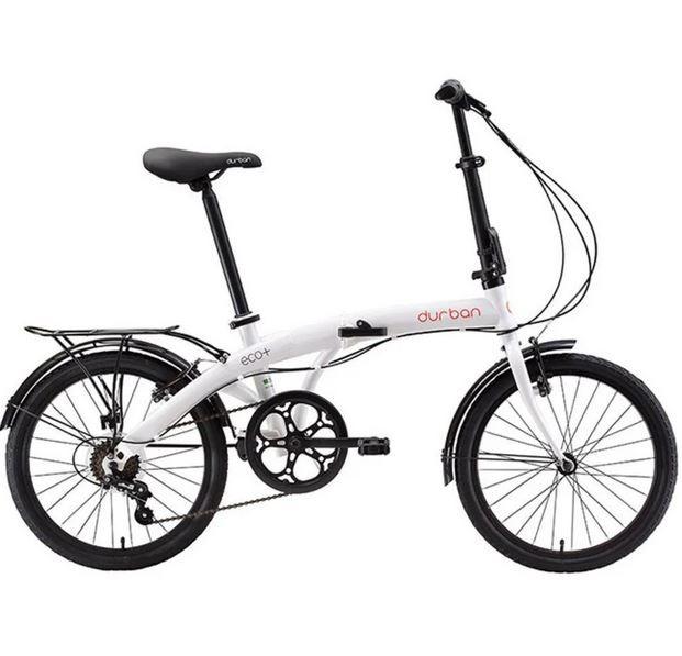 Bicicleta Dobrável Durban Eco+ Aro 20 6V Comfort Branca