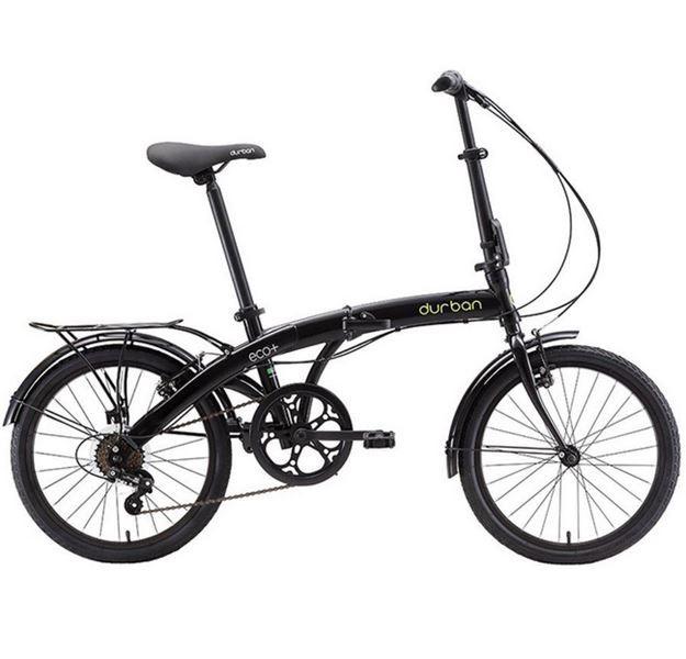 Bicicleta Dobrável Durban Eco+ Aro 20 6V Comfort Preta