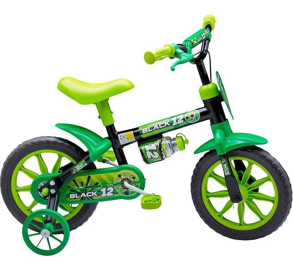 Bicicleta Infantil Nathor Verde Aro 12 com Rodinha
