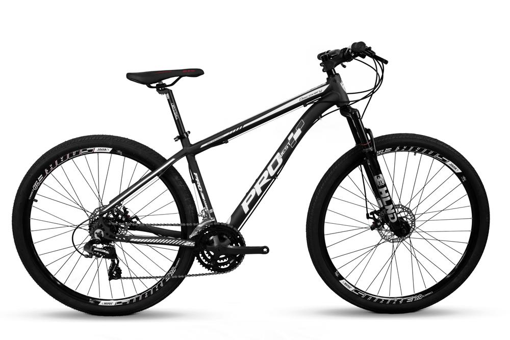 Bicicleta Mountain Bike Prowest 24v Câmbio Shimano Pto e Bco