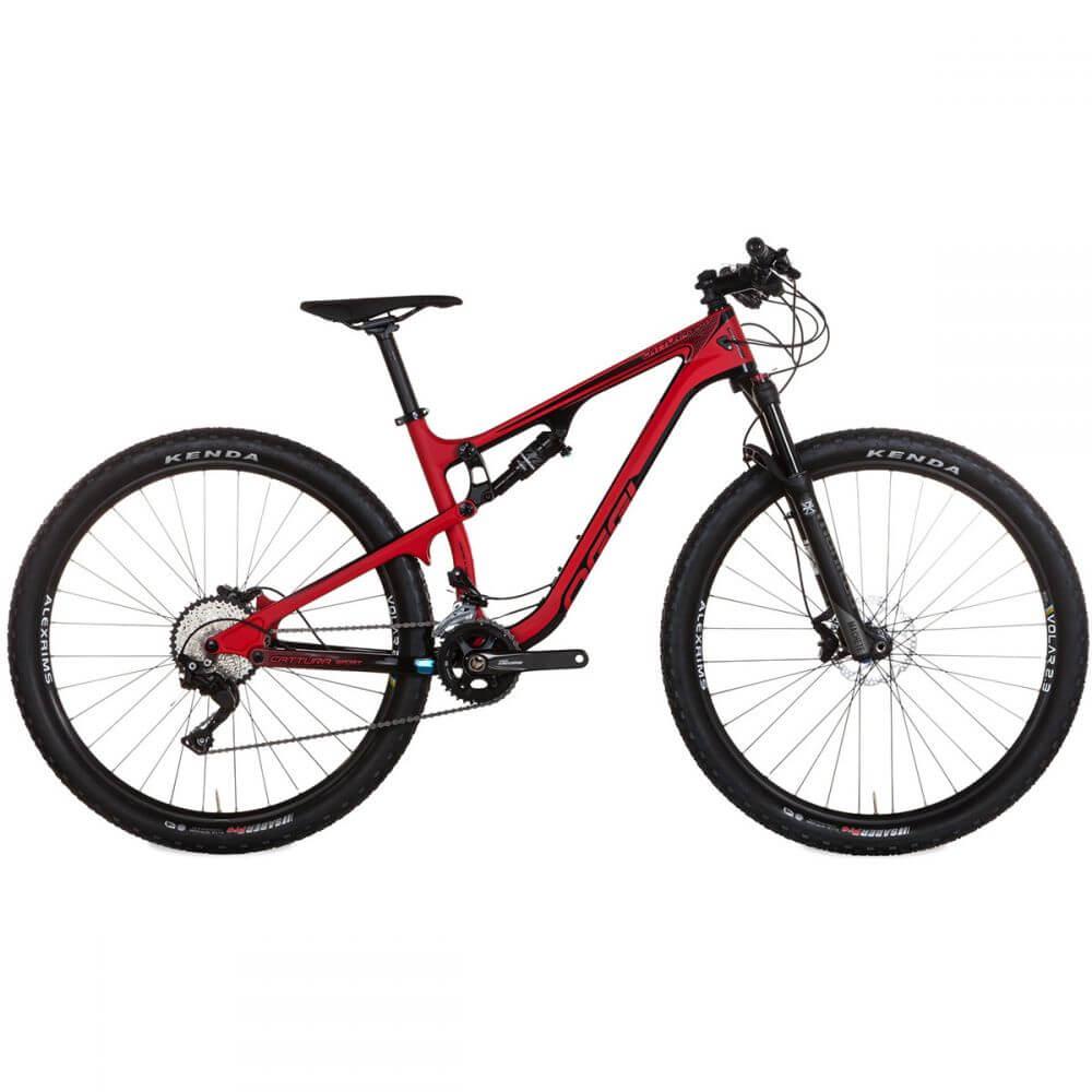 Bicicleta MTB Oggi Cattura Sport Preto/Vermelho 17 Deore 20v
