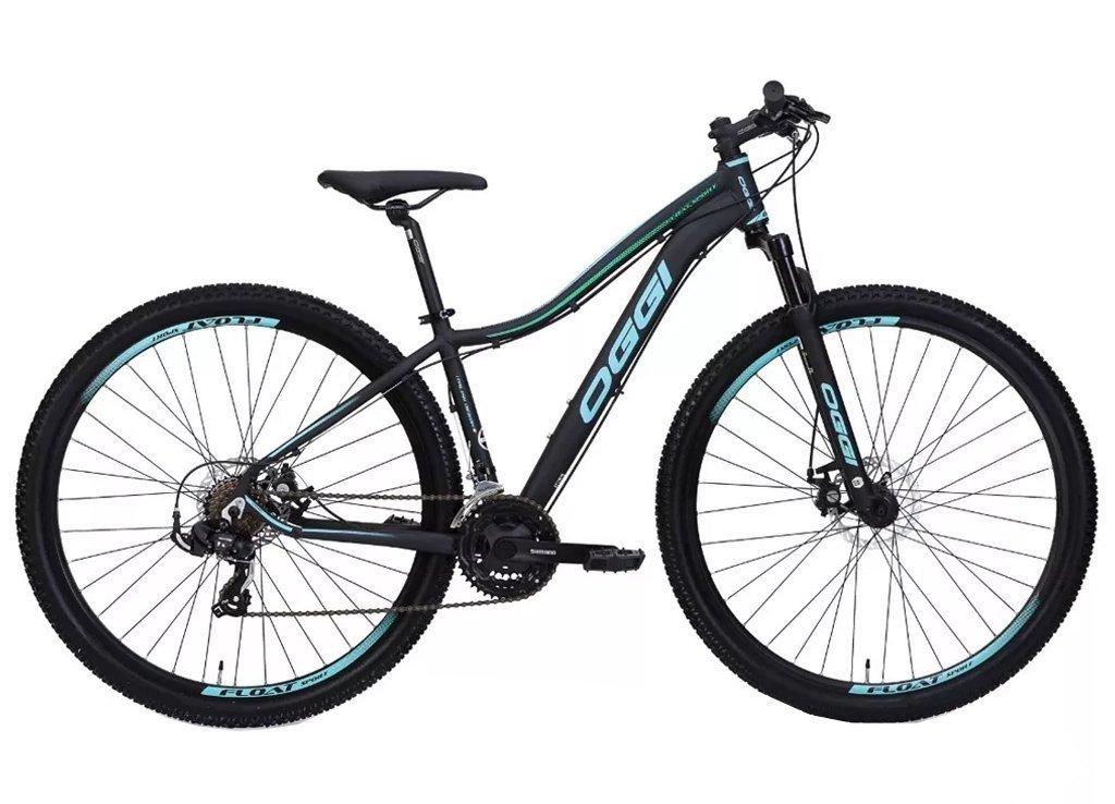 Bicicleta MTB Oggi Float Sport Preto/2verde 15,5 Tourney 21v
