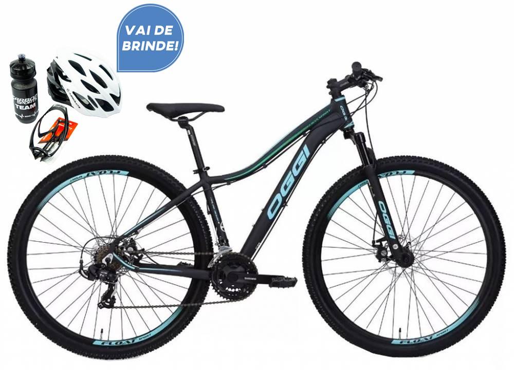 Bicicleta MTB Oggi Float Sport Verde 15,5 Tourney 21v +Brinde