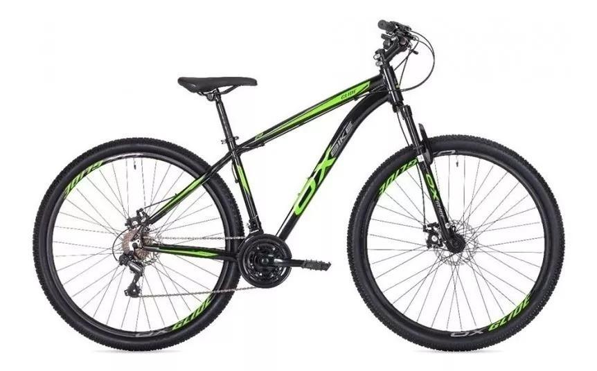 Bicicleta MTB Oggi Ox Glide 29 Preto e Verde 17 21v