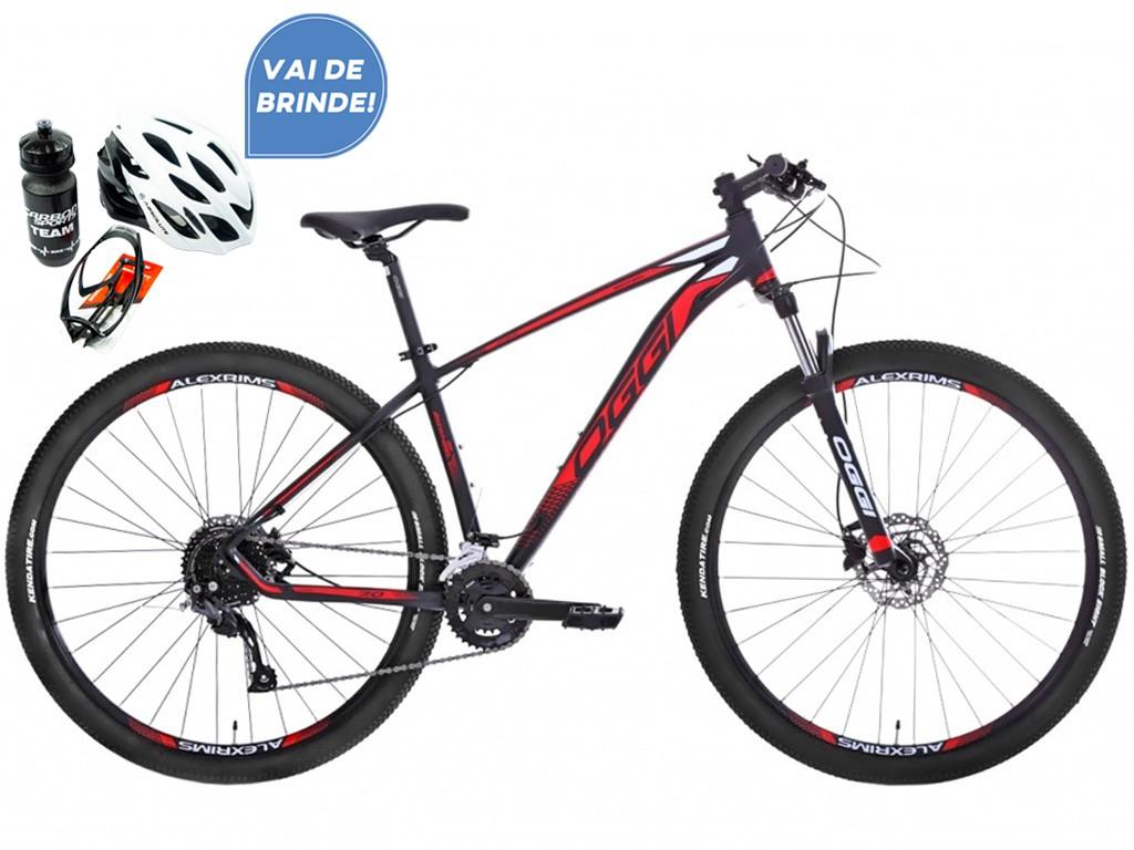Bicicleta Oggi Aro 29 Big Wheel 7.0 Preto e Vermelho