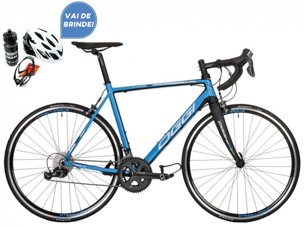 Bicicleta Speed Oggi Stimolla Azul 50 Tiagra 20v + Brindes