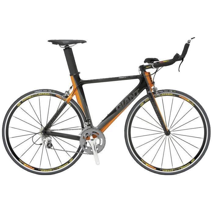 Bicicleta Triathlon Giant TCR Trinity C1 Laranja e Preto