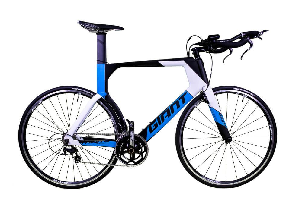 Bicicleta Triathlon Giant Trinity Advanced Seminova Azul