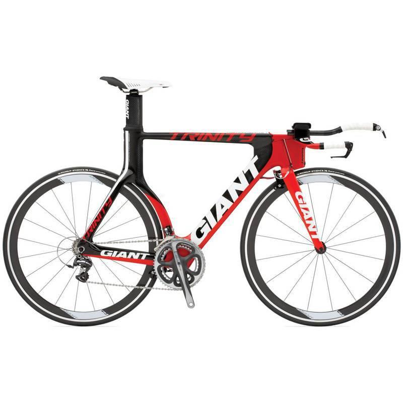 Bicicleta Triathlon Giant Trinity Advanced Sl Vermelha