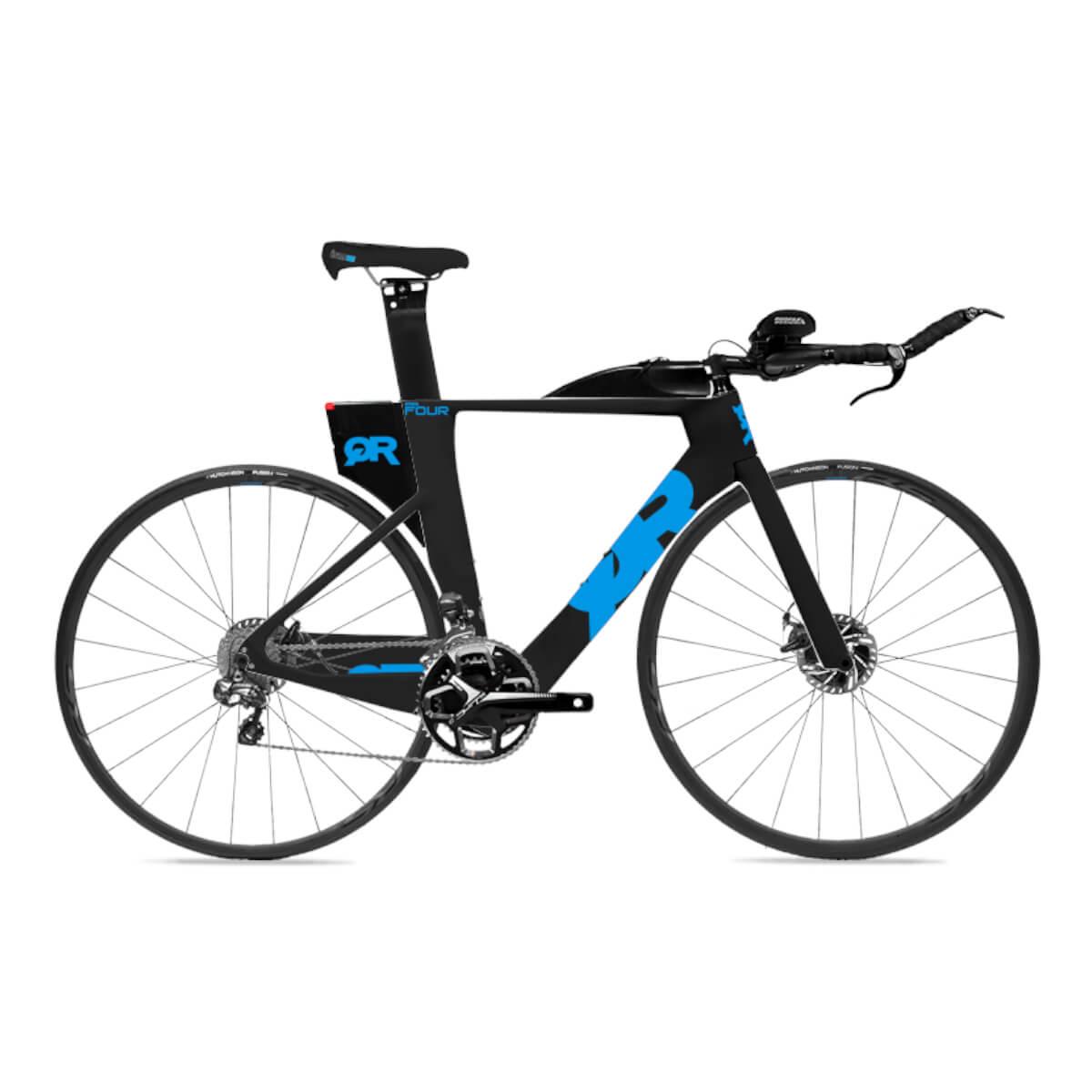 Bicicleta Triathlon Quintana Roo PRFour Disc 105 Eletric Blue