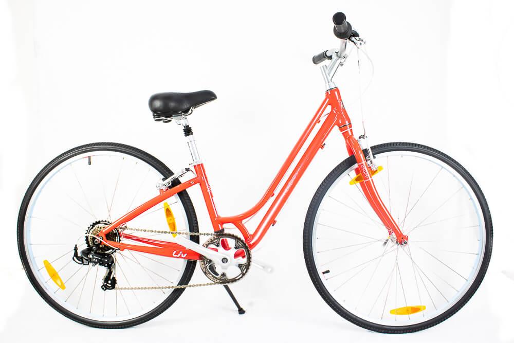 Bicicleta Urbana Retrô Giant Fluorish 4 Gu Vermelho Xs