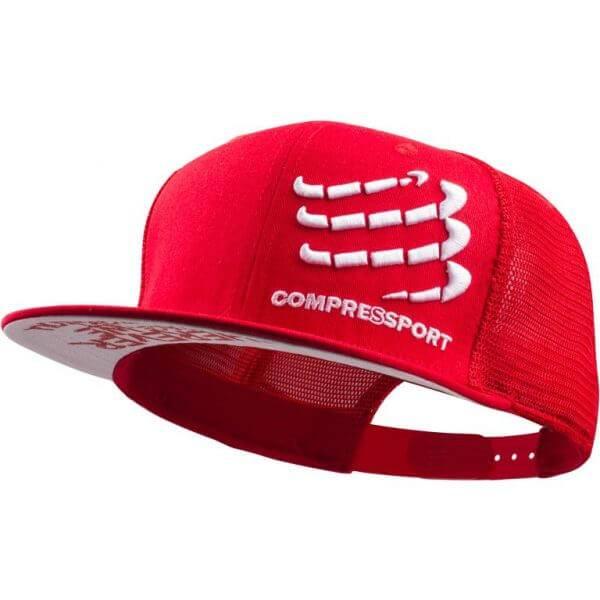Boné Compressport Trucker Vermelho