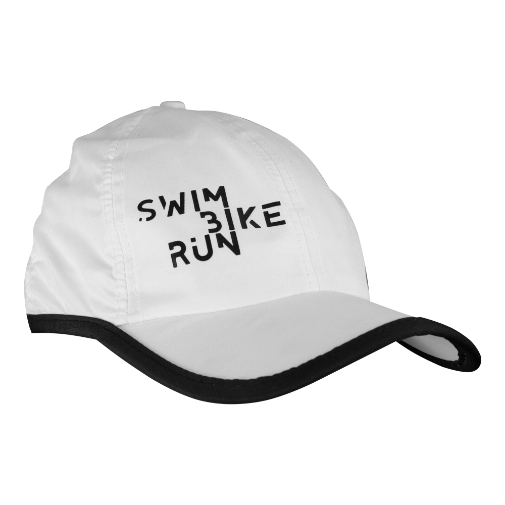 Boné Sport Luckyduck Swin Bike Run Branco e Preto