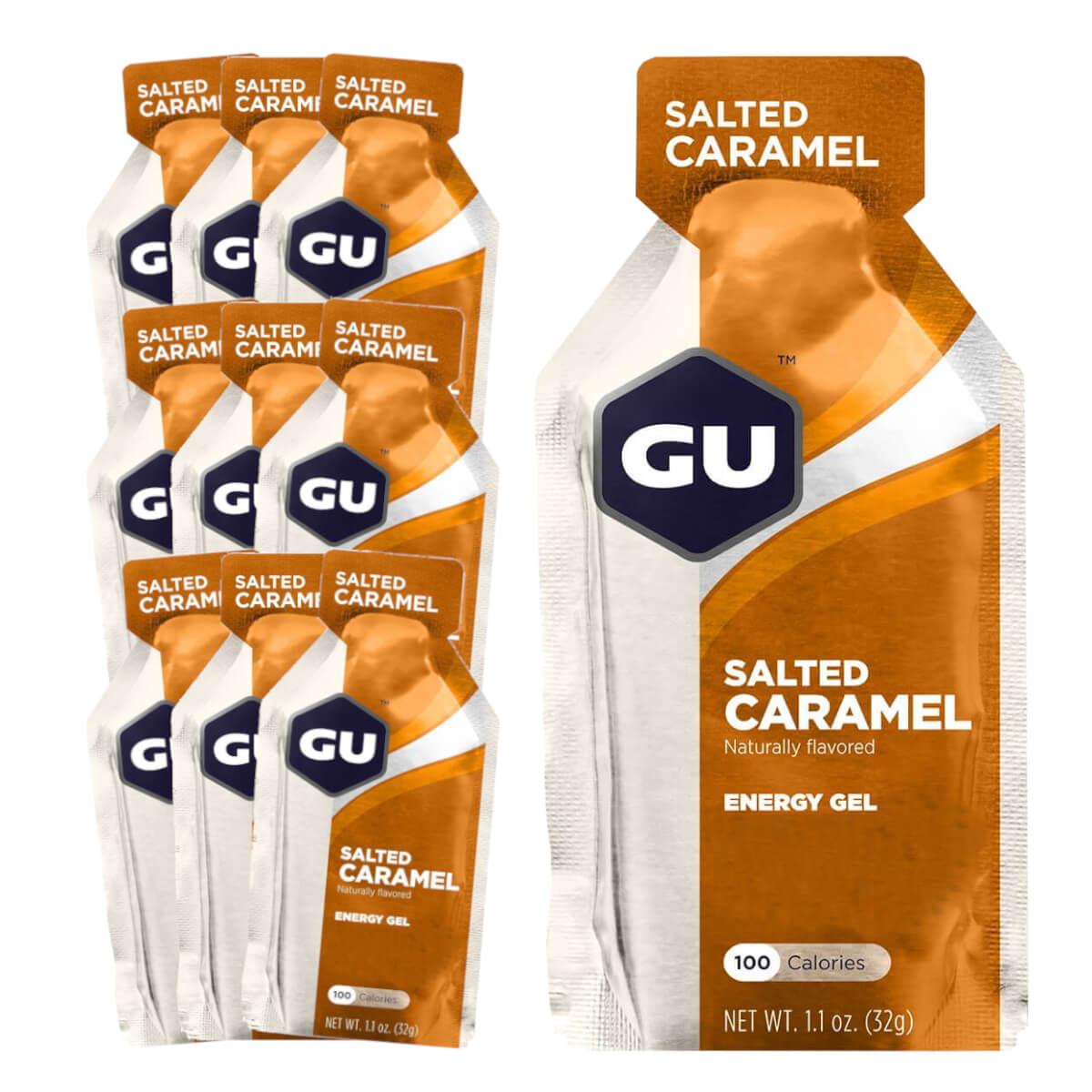 Caixa Gel Carboidrato Gu Energy Sabor Caramelo Salgado 10un