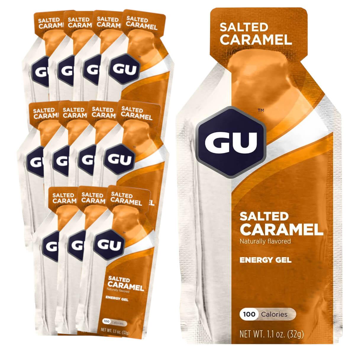 Caixa Gel Carboidrato Gu Energy Sabor Caramelo Salgado 12un