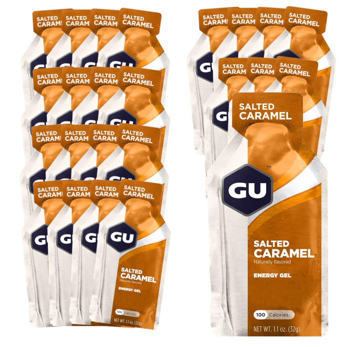 Caixa Gel Carboidrato Gu Energy Sabor Caramelo Salgado 24un