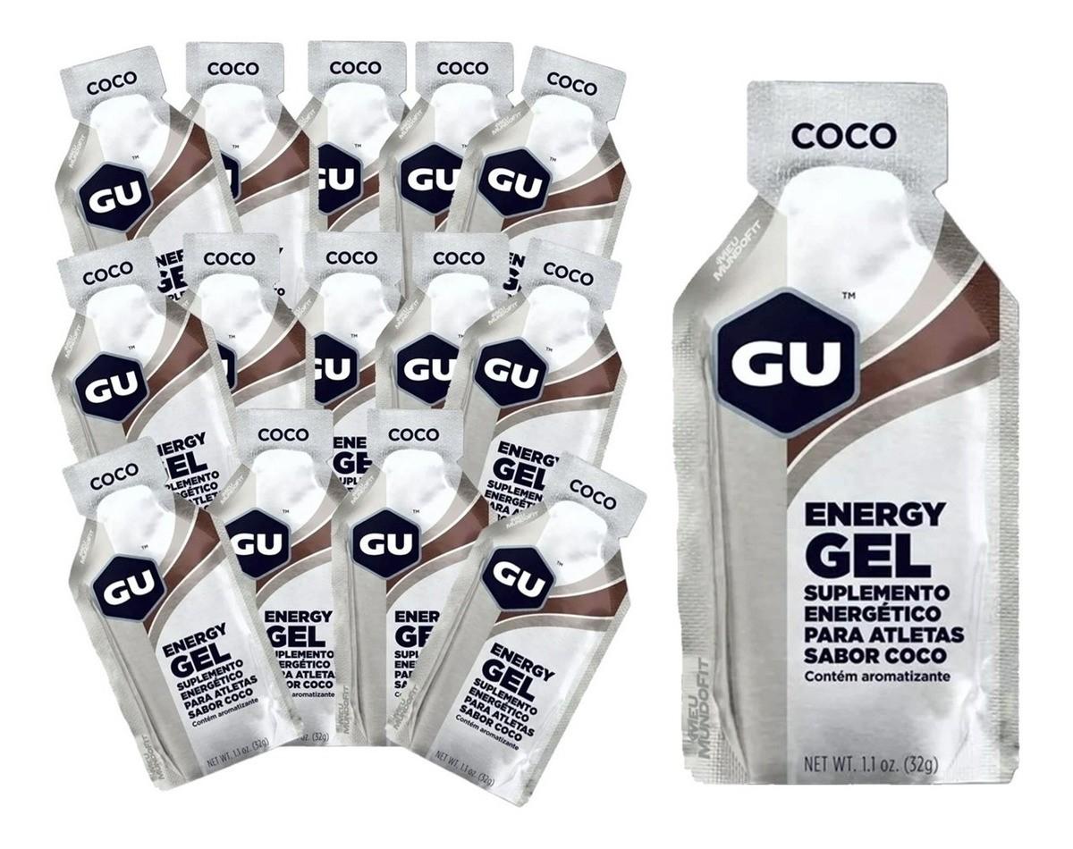 Caixa Gel Carboidrato Gu Energy Sabor Coco 12un