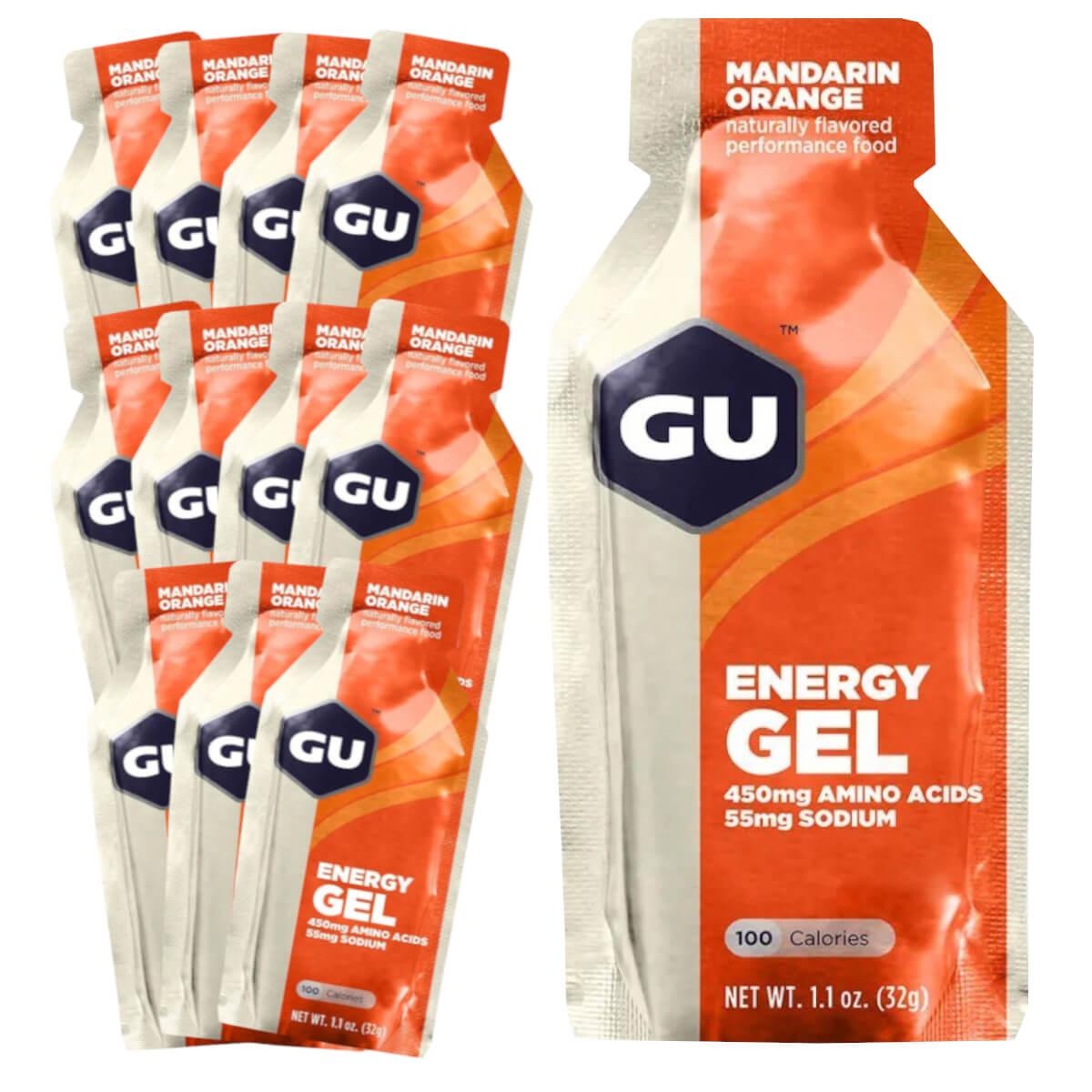 Caixa Gel Carboidrato Gu Energy Sabor Laranja 12un