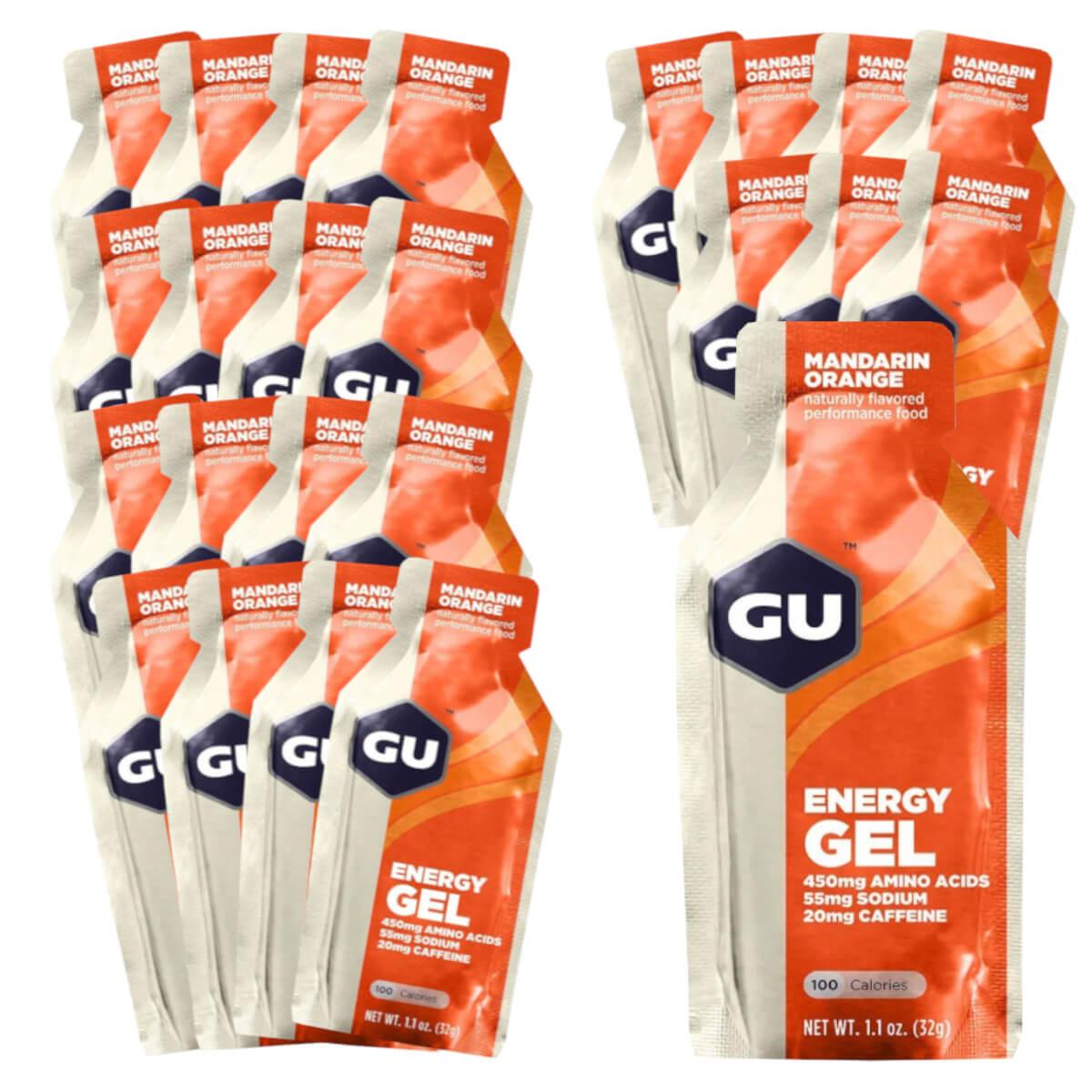 Caixa Gel Carboidrato Gu Energy Sabor Laranja 24un