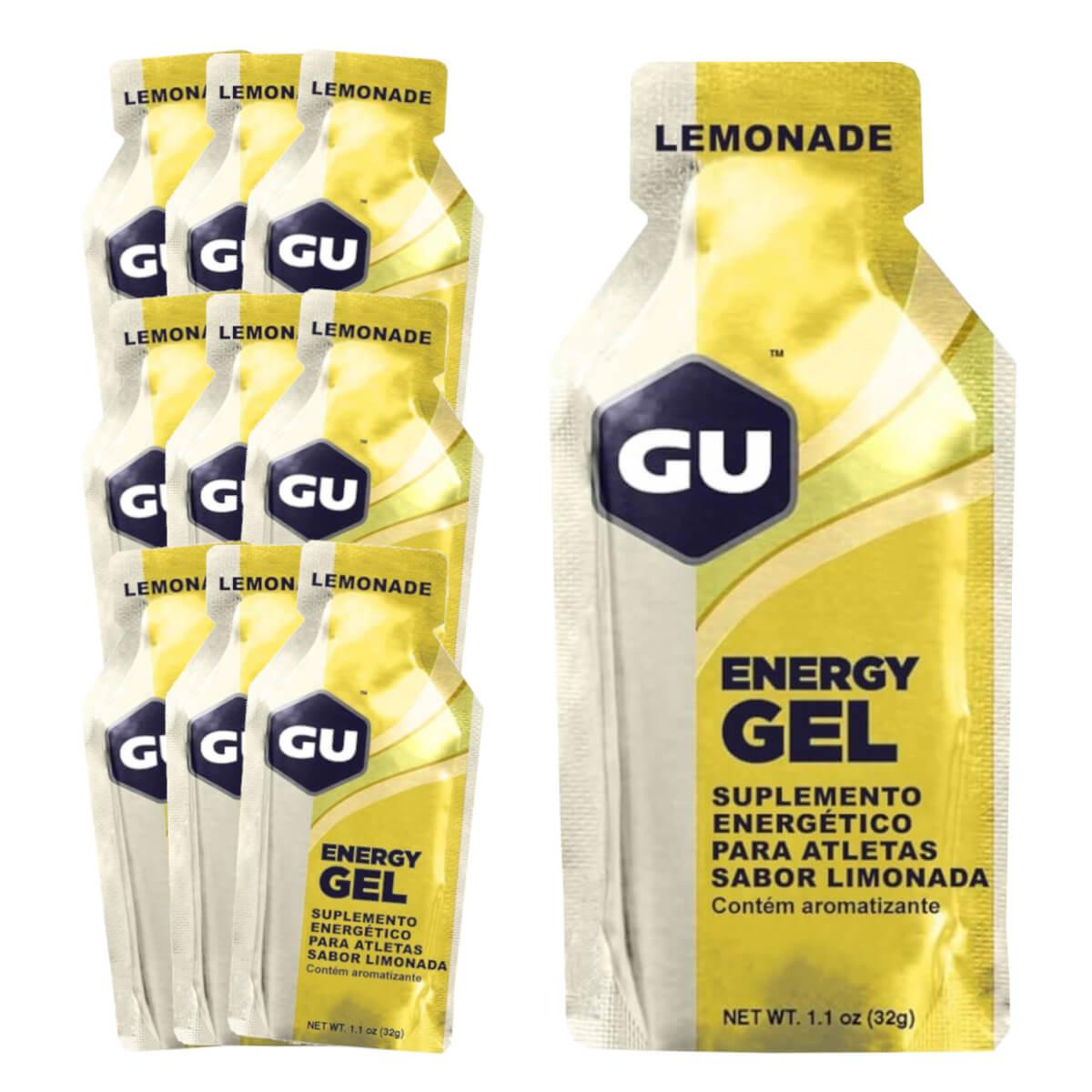 Caixa Gel Carboidrato Gu Energy Sabor Limão 10un