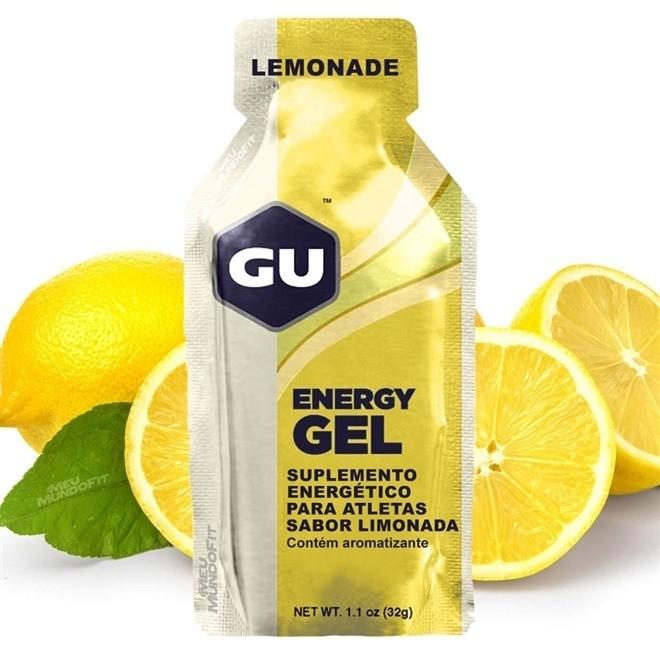 Caixa Gel Carboidrato Gu Energy Sabor Limão 12un
