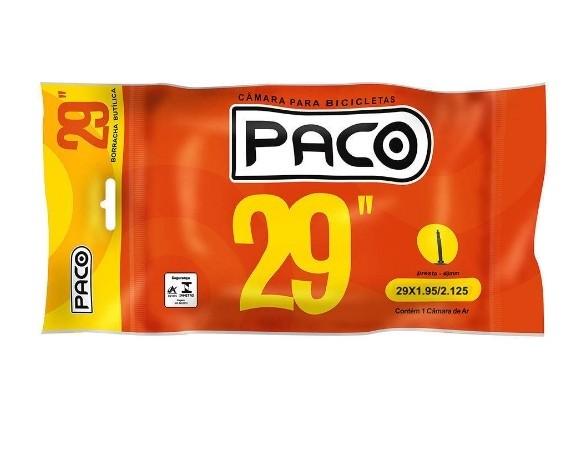 Câmara de Ar Mtb Paco 29 X 1.95 / 2.125 Bico fino 48mm presta