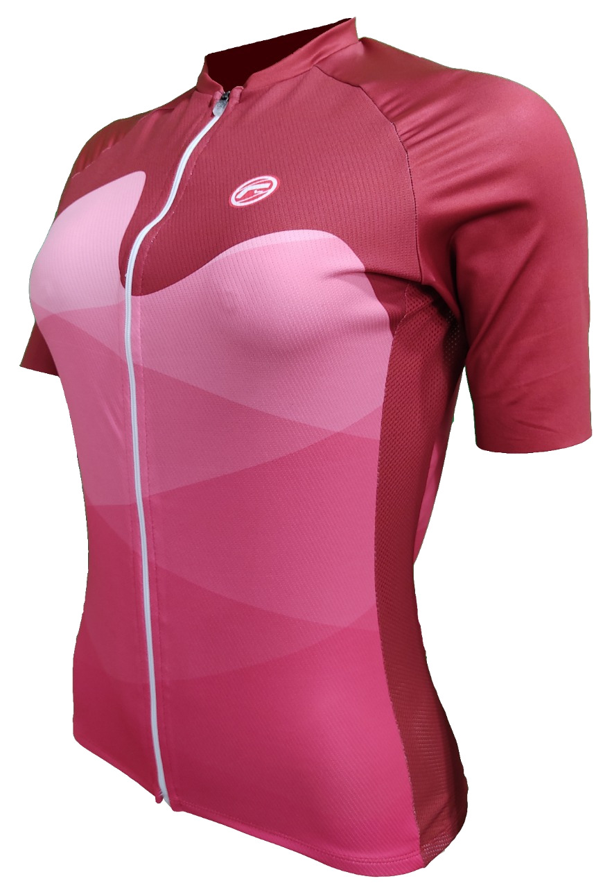Camisa Ciclismo Barbedo Feminina Carioca Raglan Rosa