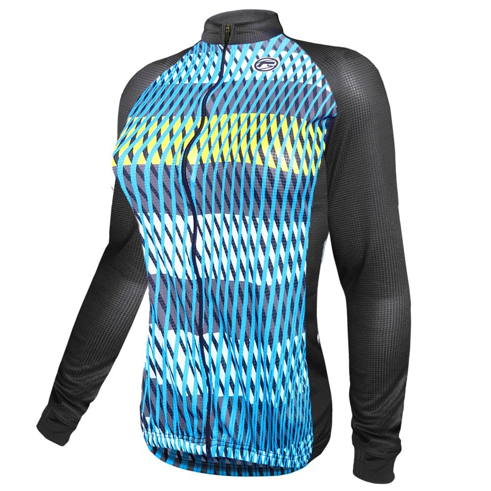 Camisa Ciclismo Barbedo Feminina Moselle Azul