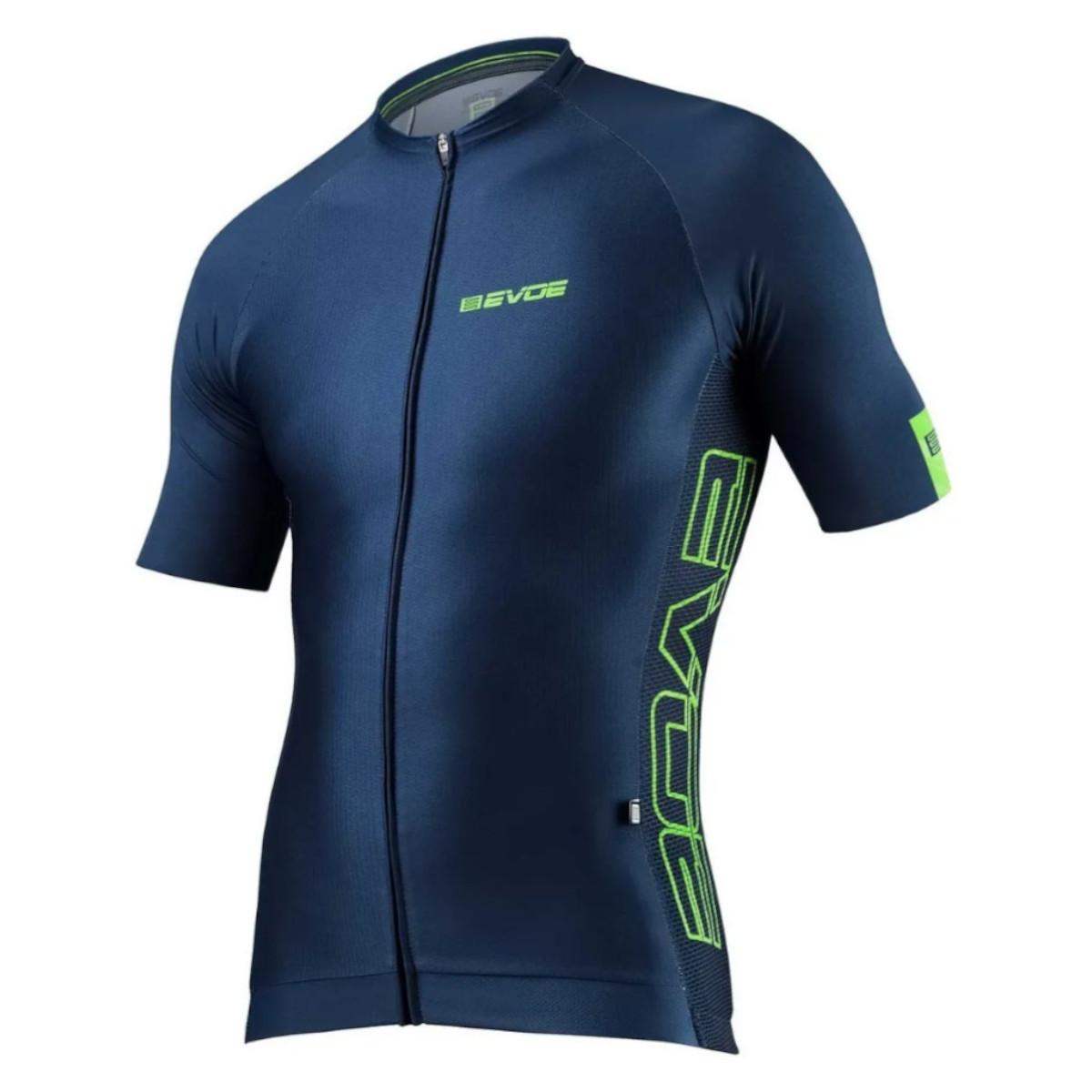 Camisa Ciclismo Evoe Masculina Evolution Blu Bolso Zíper