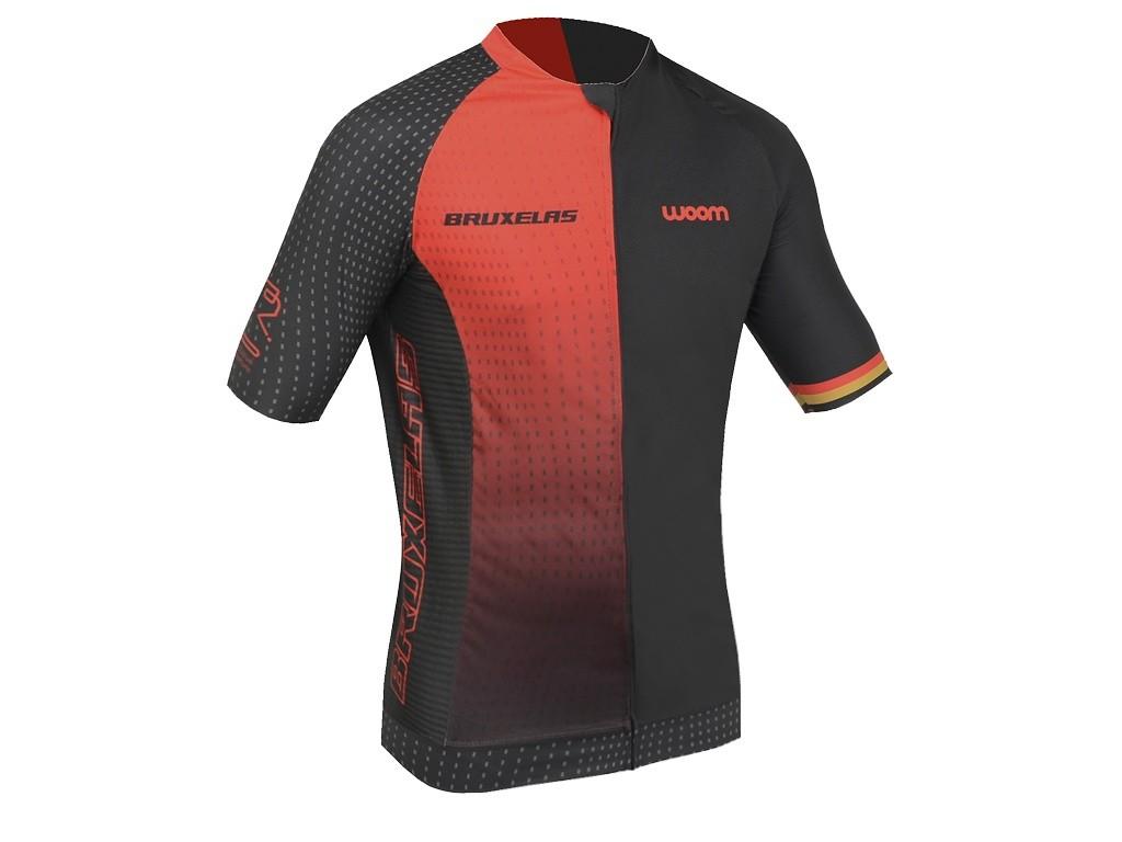 Camisa Ciclismo Masculino Woom Supreme Bruxelas 2020