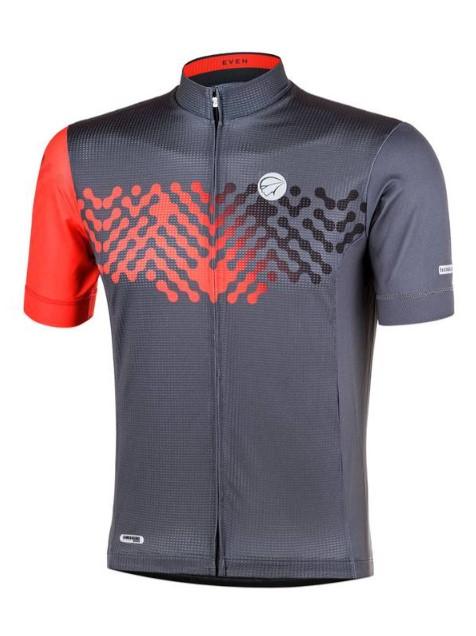 Camisa Ciclismo Mauro Ribeiro Even Masculina Vermelho e Pto