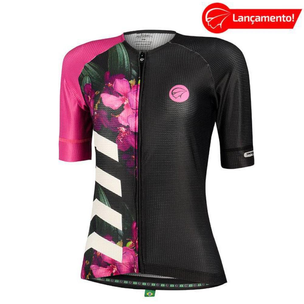 Camisa Ciclismo Mauro Ribeiro Feminina Bloom Roxa