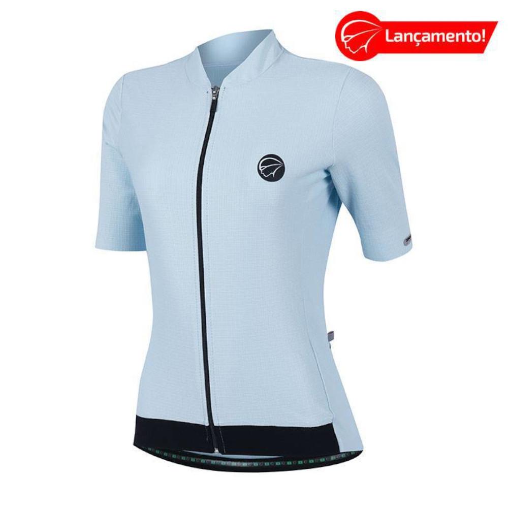 Camisa Ciclismo Mauro Ribeiro Feminina Fiber Azul Bebe