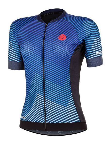 Camisa ciclismo Mauro Ribeiro Feminina Flare Azul