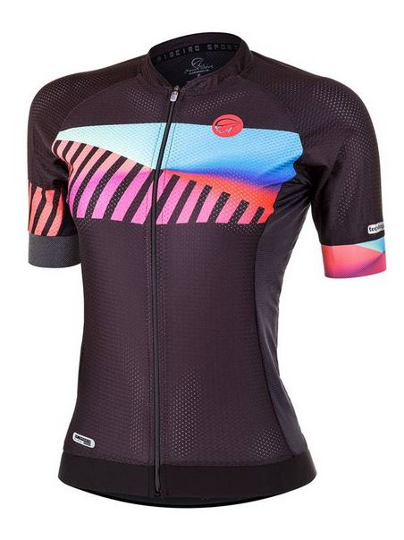 Camisa ciclismo Mauro Ribeiro Feminina Paint Preta