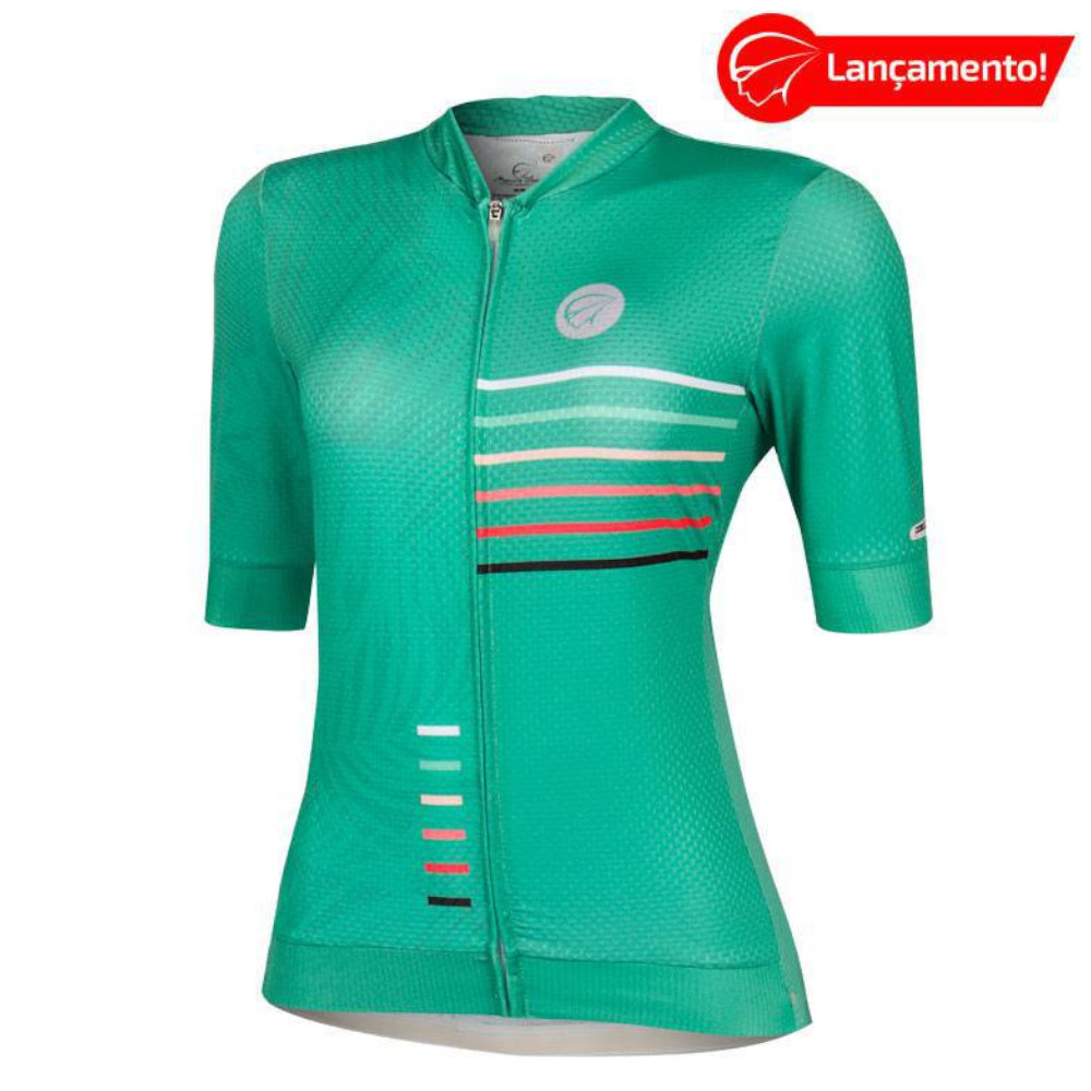 Camisa Ciclismo Mauro Ribeiro Feminina Vibrant Verde