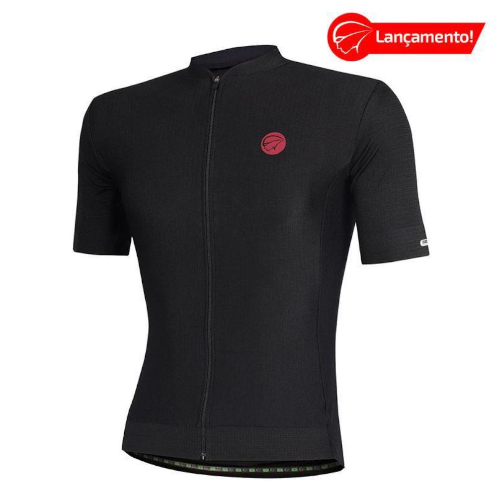 Camisa Ciclismo Mauro Ribeiro Masculina Fiber Preta