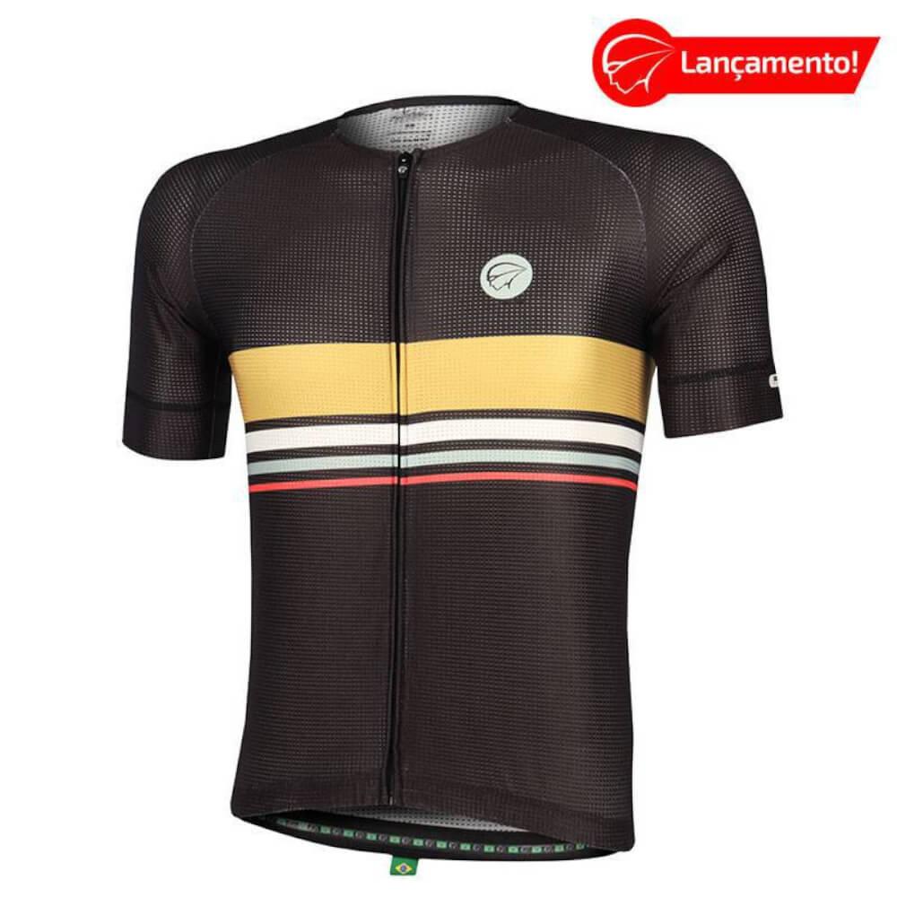Camisa Ciclismo Mauro Ribeiro Masculina Horizon Preta