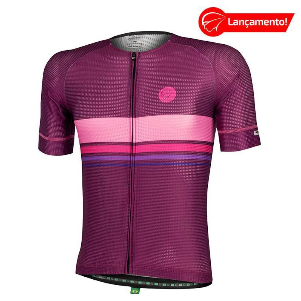 Camisa Ciclismo Mauro Ribeiro Masculina Horizon Roxa