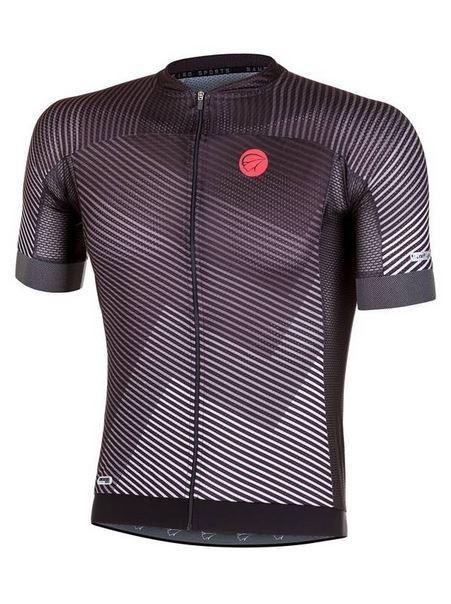 Camisa Ciclismo Mauro Ribeiro Masculina Plain Preto e Cinza